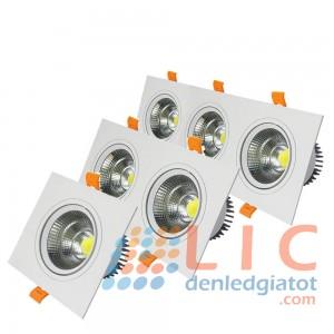 Đèn Âm Trần Đôi MặT Trắng COB Lic Lighting 7Wx2