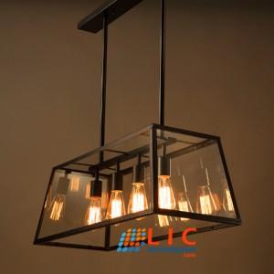 Lồng Kính Thả Kiểu Pháp 4 Bóng Edison Lic Lighting