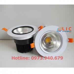 Đèn Âm Trần Lật Góc Mắt Rọi COB 12W  Viền Đen Lic Lighting