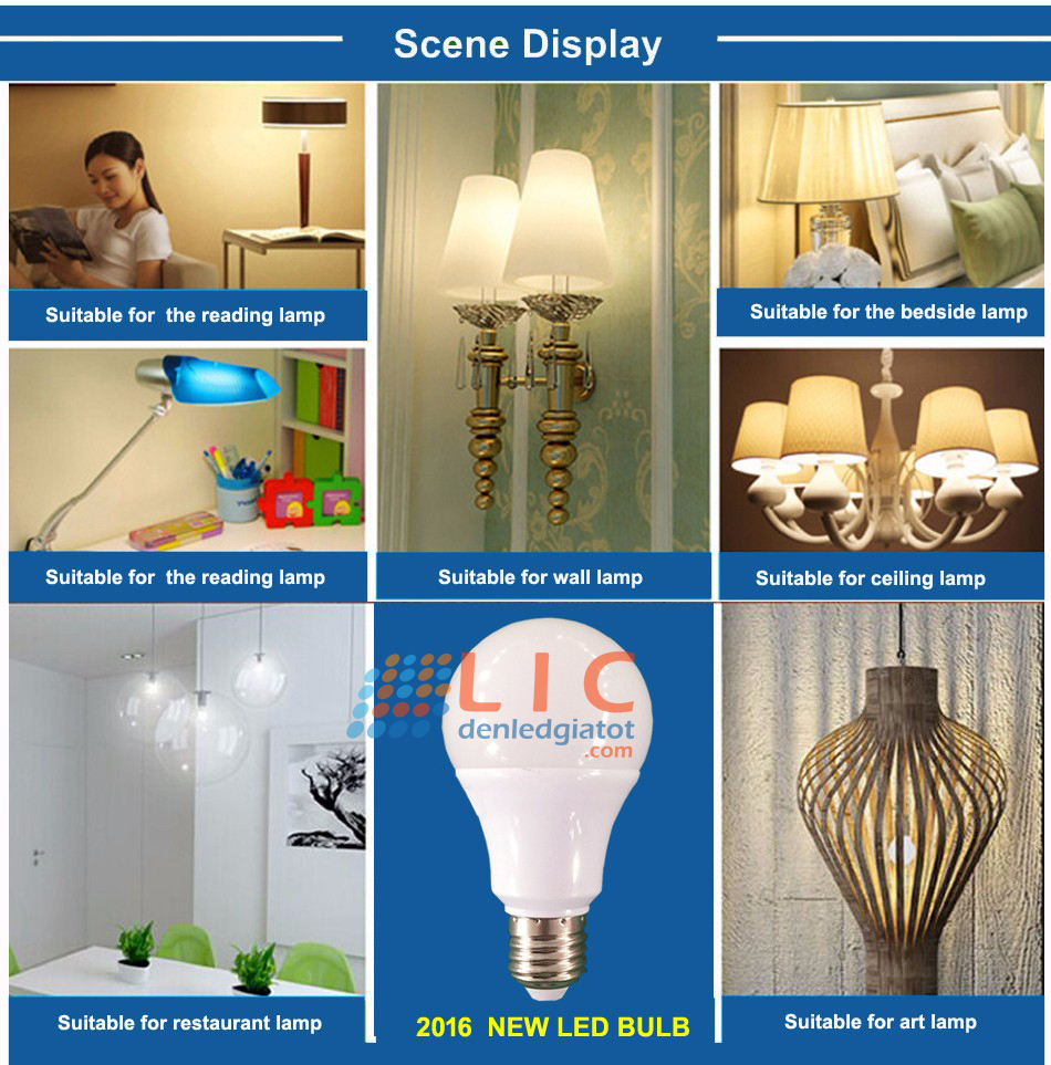 bong sieu sang 9w 12w 7w showroom kitchen home led hanoi 111