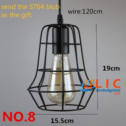 8 chao den tha retro edison sat lic led lighting showroom decor home kitchen