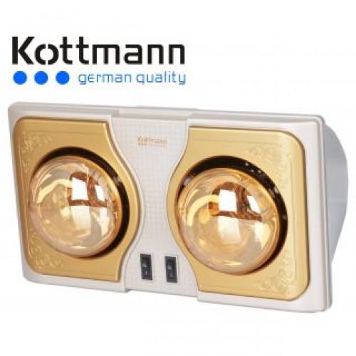 Đèn sưởi nhà tắm Kottmann 2 bóng vàng K2B-H