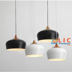 Đèn Thả Trang Trí Châu Âu Đui Gỗ Lic Lighting