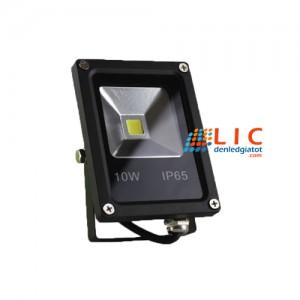 Đèn Pha Led 10W Vỏ Đen Full Công Suất Lic Lighting